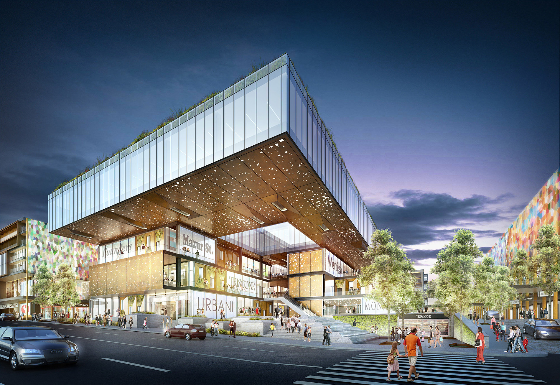 Rendering Reveal For New Potrero Center Mixed Use Development