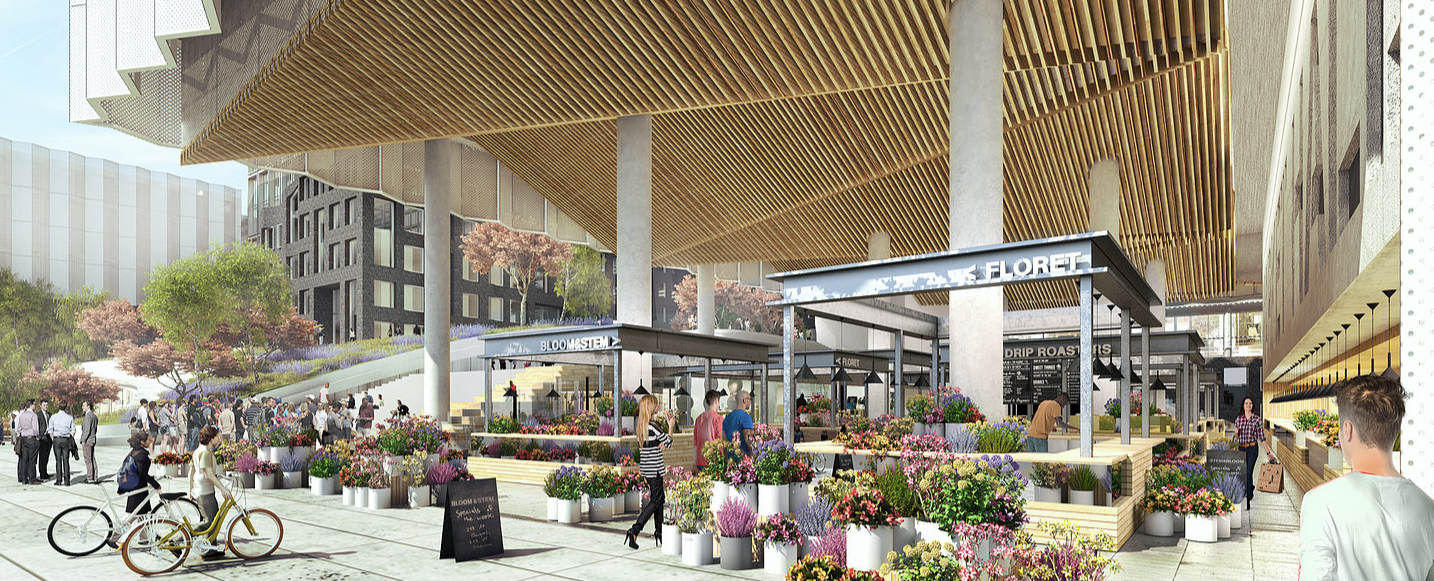 New Renderedings of Above-Ground SF Flower Mart Revealed