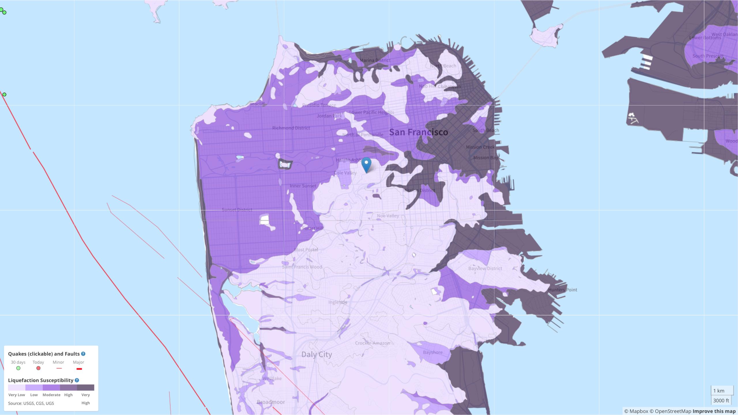Bay Area Liquefaction, Landslide, and Seismic Zones – Mapped