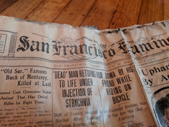 Cole Valley Flat For $15;  Scantily Clad Bathers Arrested; Dead M...